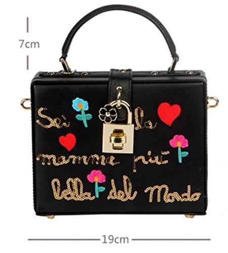 Black Vintage Sacs Buckle Bandoulière Messenger à Main à Mode Petits Sacs Sacs Carrés De Sacs R6qxp7