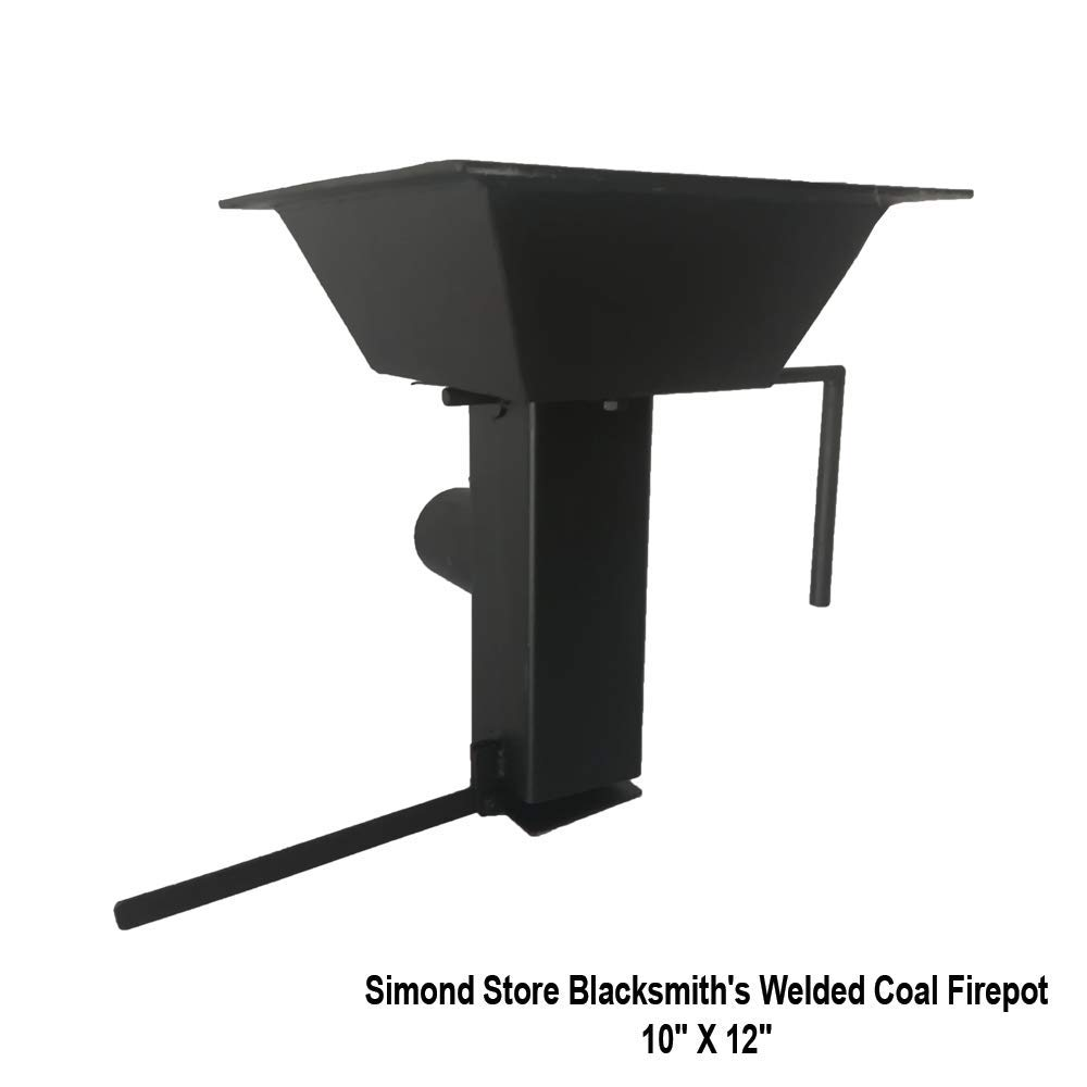 Simond Store Blacksmith's Welded Coal Firepot for Forging & Coal Forge - 10'' X 12''
