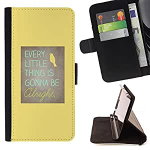 Jordan Colourful Shop - motivational positive yellow bird For Apple Iphone 4 / 4S - Leather Case Absorci???¡¯???€????€????????&