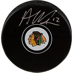 Alex DeBrincat Chicago Blackhawks Autographed Hockey Puck Fanatics Authentic Certified Autographed NHL Pucks