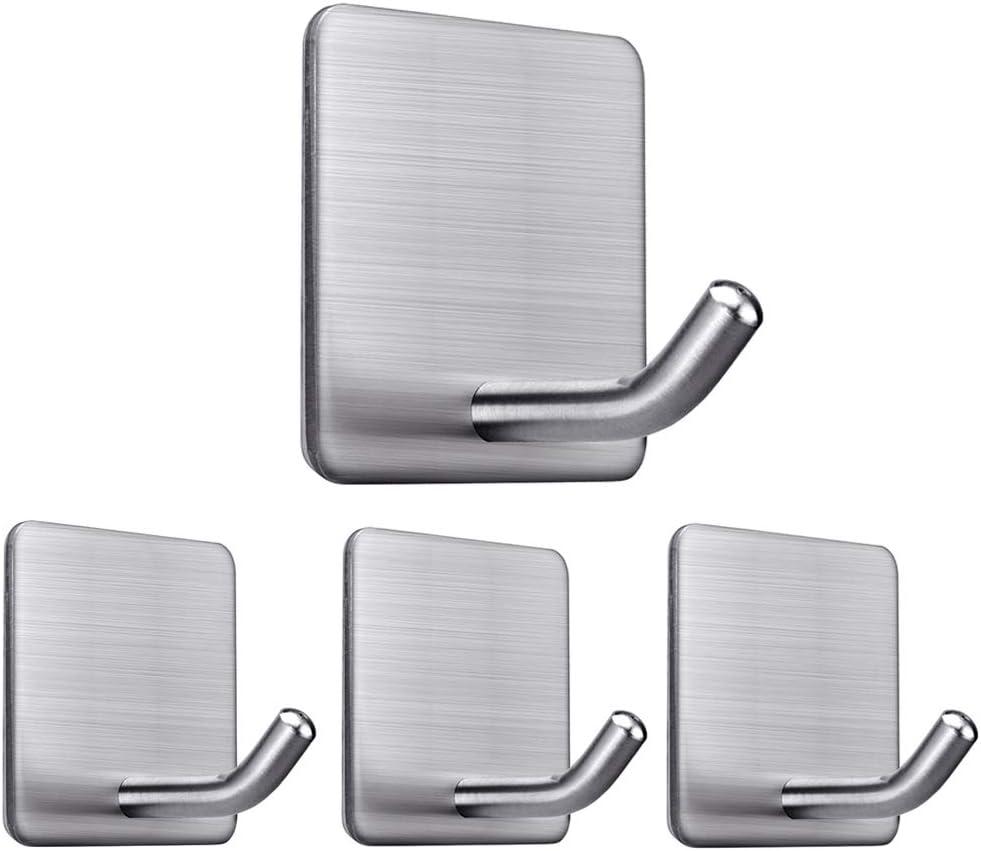 Set of 4 Large Self Adhesive Stick On Utility Hooks Bathroom Home Oranization