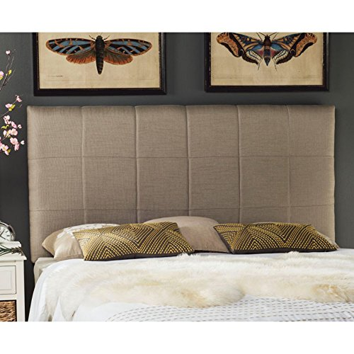Price comparison product image Safavieh Mercer Collection Quincy Black Bicast Leather Headboard,  Queen