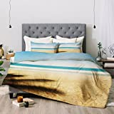 Deny Designs Bree Madden Hawaii Blue Comforter Set, King