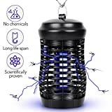 Indoor Insect Killer - Mosquito Killer Bug Zapper 200 SQFT Coverage Mosquito Trap, Hanging or Standing Electronic Insect Killer Mosquito Lamp, Eliminate Mosquitoes, Flies, Moths In the Dark Home