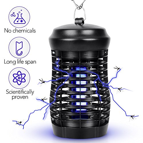 Indoor Insect Killer - Mosquito Killer Bug Zapper 200 SQFT Coverage Mosquito Trap, Hanging or Standing Electronic Insect Killer Mosquito Lamp, Eliminate Mosquitoes, Flies, Moths In the Dark Home by VIVREAL
