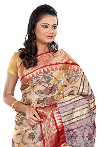 B3Fashion-Indian-Ethnic-Handloom-Bengal-Pure-Tussar-Silk-Saree