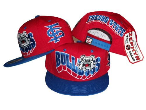 ZHATS Fresno State Bulldogs Adjustable Snapback Hat/Cap - Fresno State Bulldogs Hat Cap