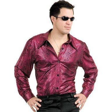 Liquid Red Flashy Red Disco Costume Shirt