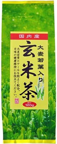 みどり園 大麦若葉入り 玄米茶 120g
