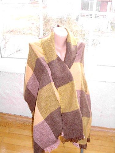 Blanket shawl Oversized winter scarf Large fringed wrap shoulder scarf Boho Style Autumn fall fashion Christmas - Fringed Winter Scarf