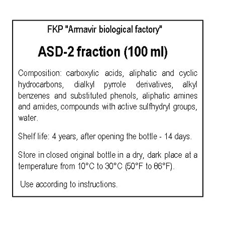 ASD-2 (АСД) fraction for INTERNAL USE 100ml (A  Dorogov) (for treatment of  PETS and ANIMALS: immunomodulator, oncology)