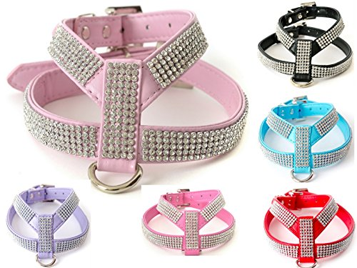 Rhinestone Dog Harness Comes with Free Charm for XSmall and Small Breeds Only (Size 4 fits Chest 14.5-17.5