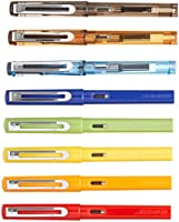 8 PCS Jinhao 599 Fountain Pens Diversity Set Transparent and Unique Style)