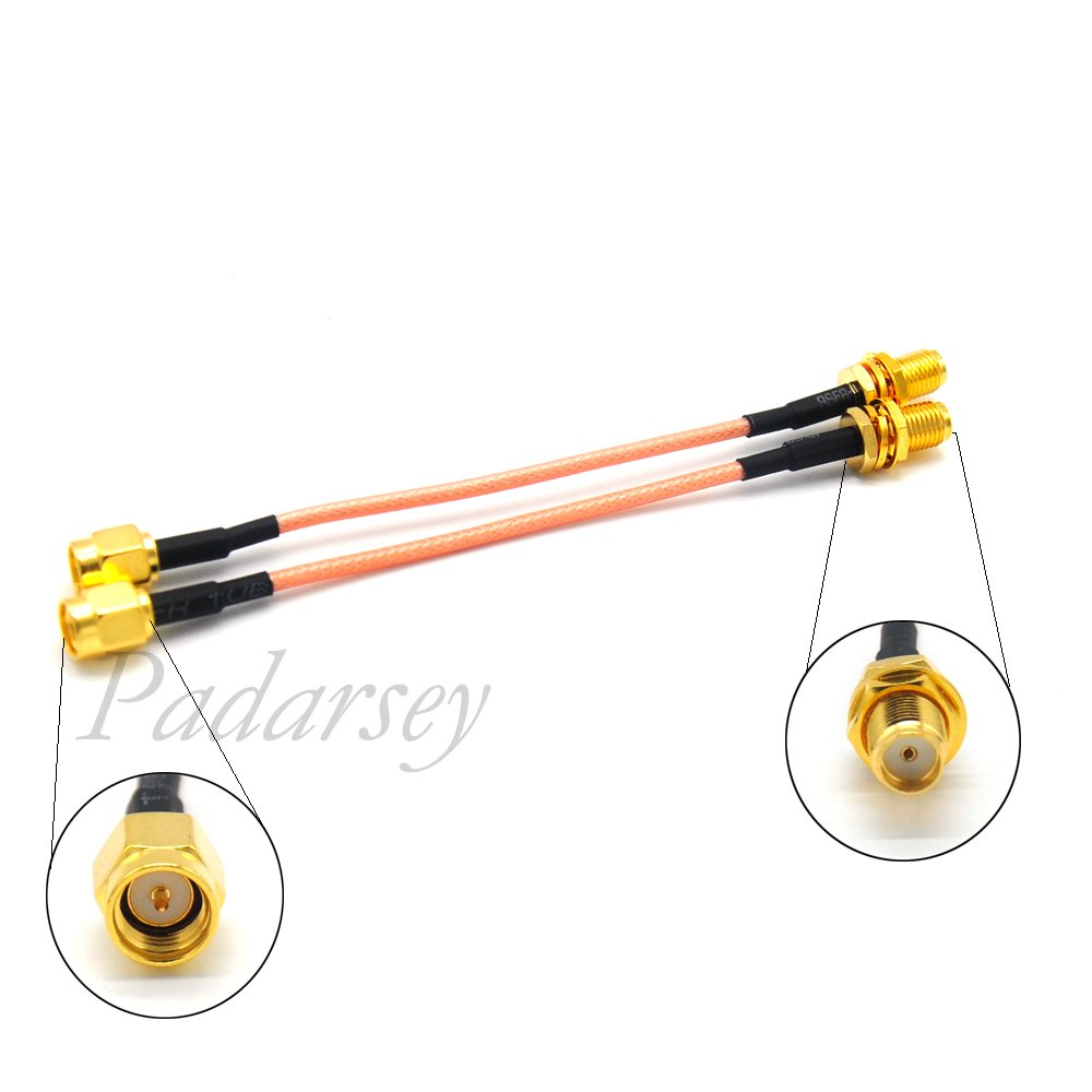 Padarsey 50cm FPV Antenna Extension Cable RP-SMA Male to RP-SMA Female Antenna Adapter