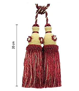 Double Embrasse Pampille 60 Cm2 X 20 Cm Avec Cordon De Serrage