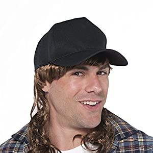 Trucker Hat With Mullet - Costume Accessory, 3 Ct.