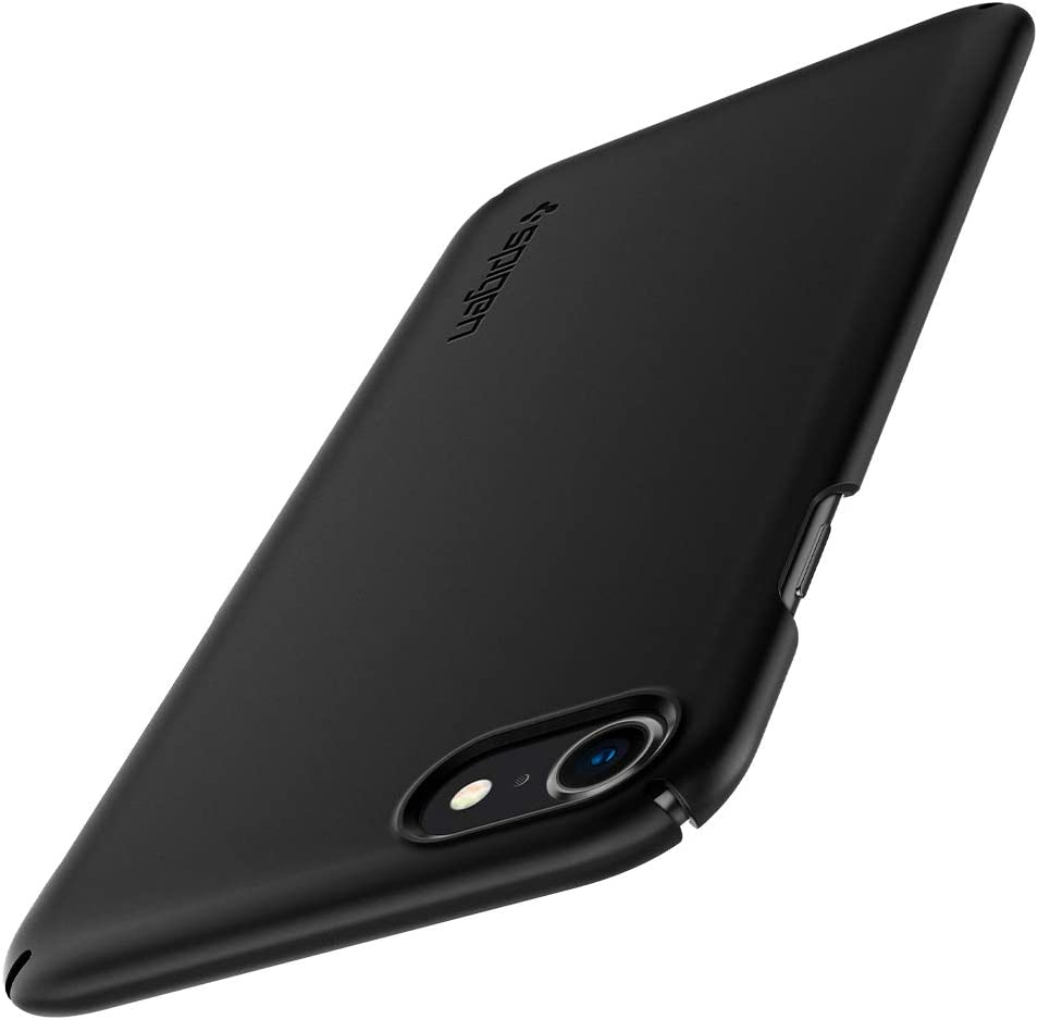 Spigen Thin Fit 2 Hülle Kompatibel Mit Iphone Se 2020 Iphone 8 Und Iphone 7 Schwarz Elektronik