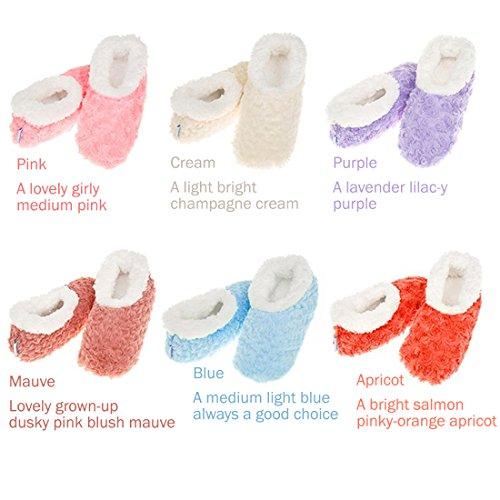 Tissu Snoozies Rose Soft Super Fur like texturé Femmes Bleu Chaussons xw0qFUaw1P