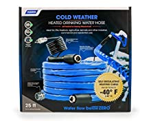 """Camco 25ft Cold Weather Heated Drinking Water Hose Can Withstand Temperatures Down to -40°F/C- Lead and BPA Free, Reinforced for Maximum Kink Resistance 5/8"""" Inner Diameter (22923)"""