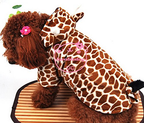PETLOVE Giraffe Dog Costume  Hooded Dog Coat for Small Dogs