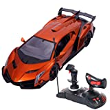 1/14 Lamborghini Veneno Electric Sport Radio Remote Control RC Car Orange Gift