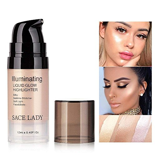 SACE LADY lluminating Liquid Glow Highlighter Makeup,Sublime Shimmer Soft Light Face and Body Luminizer,12ml/0.40 Fl Oz