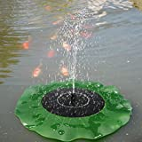 Generic Solar Floating Lotus Leaf Fountain Water Pump Garden Pond Decoration One Piece