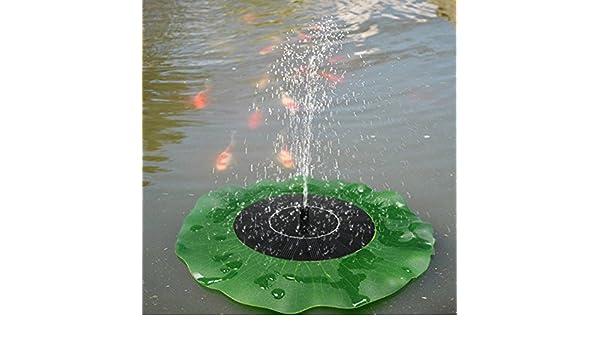 Bluelover Decoración De Estanque De Loto Hoja Fuente Agua Bomba De Jardín Flotante Solar: Amazon.es: Hogar
