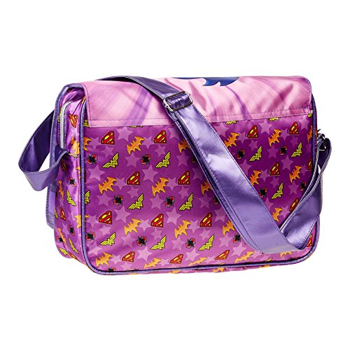 Karactermania DC Super Hero Girls Borsa Messenger, 37 cm, Viola