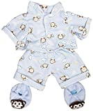 Best FIESTA Friends Teddy Bears - Blue Monkey Pajamas with Slippers Teddy Bear Clothes Review