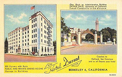 Berkeley California Hotel Durant Multiview Antique Postcard K86567