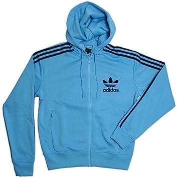 Adidas Hooded Flock TT Chaqueta Columbia p04157, Hombre, Color Azul Claro y Negro, tamaño Small: Amazon.es: Deportes y aire libre