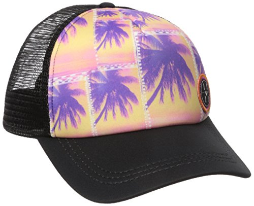 [Roxy Juniors Truckin Ethnic Palm Trucker Hat, True Black, One Size] (Ethnic Hats)