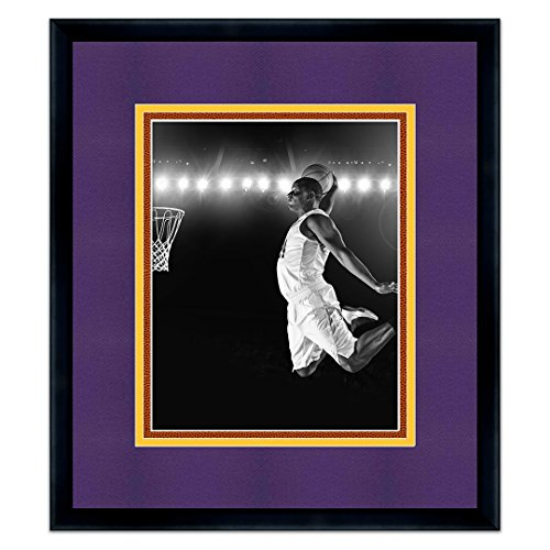 Sports Frames Los Angeles Lakers Black Wood Picture Frame - Made to Display 8