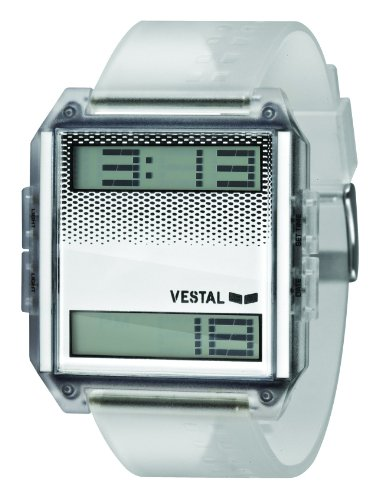 Vestal Unisex DIG005 Digichord Clear White PU Digital Watch