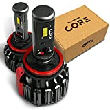 OPT7 Fluxbeam Core H11 H8 H9 LED High Beam Headlight Bulbs Kit - 60w 6,000Lm 6K Cool White CREE - 1 Yr Warranty