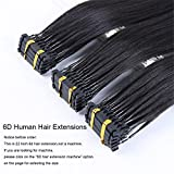 XIANGRUI HAIR 6D Hair Extensions for Fast Hair Extension High End Connection Technology Human Hair Extensions (22 Inch)