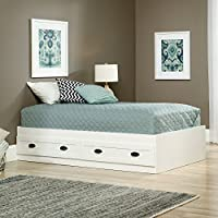 Sauder 418535 County Line Platform Bed, Twin, Soft White