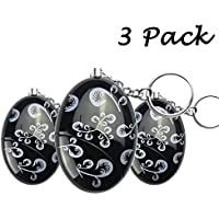 3 Pack 120dB SOS Emergency Personal Alarm Keychain for Women/Girls/Kids/Superior/Exploer Self-Defense Bag Decoration Electronic Protection Device