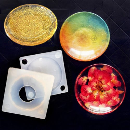 Mold Dish (6.5×1.5cm New Resin Mold UV Silicone DIY dishes plate SILICONE TRINKET BOWL MOULD)