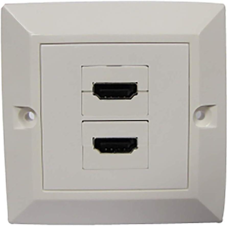BeMatik - Caja de Pared canaleta 80x80 2xHDMI-H: Amazon.es: Electrónica