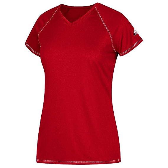 Damen weiß Laufshirt Sportshirt Shirt adidas® Prime Tee Climalite