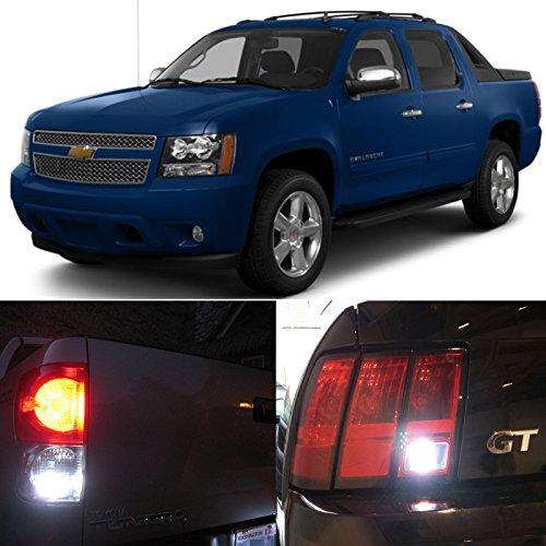 2007-2014 Chevy Chevrolet Avalanche Reverse Backup Back up LED Light Bulbs 992 7440NA 7440NA 7440 7440ST 7440LL 7441