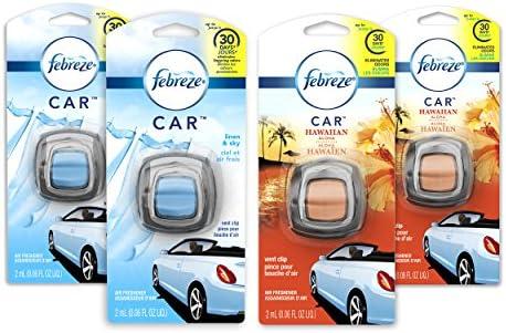 Febreze Car Air Freshener Vent Clips, 2 Linen...