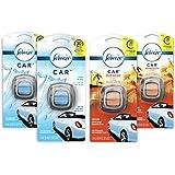 Febreze Car Air Freshener, 2 Linen & Sky and 2 Hawaiian Aloha scents (4 Count.06 fl oz)