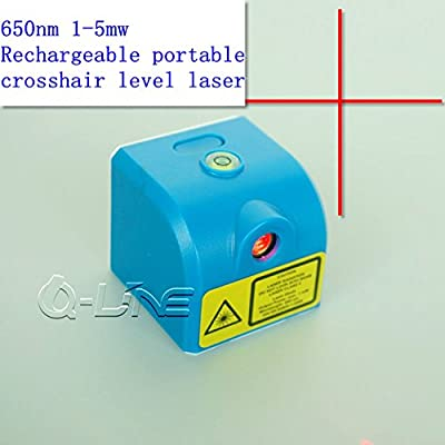 650nm 1mw-5mw Red Cross Laser Module 3.7V w/ USB & Rechargeable Portable Crosshair Level