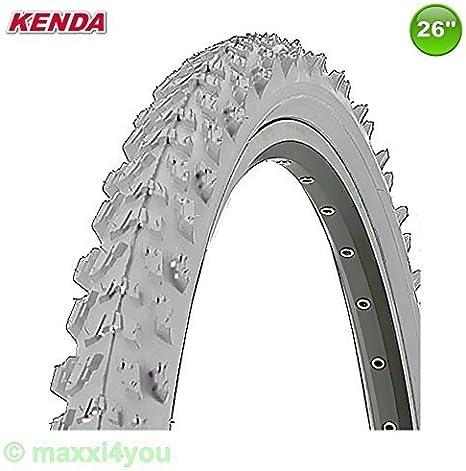 Kenda MTB Neumático de la bicicleta Cubierta - Color Gris - 26 x ...