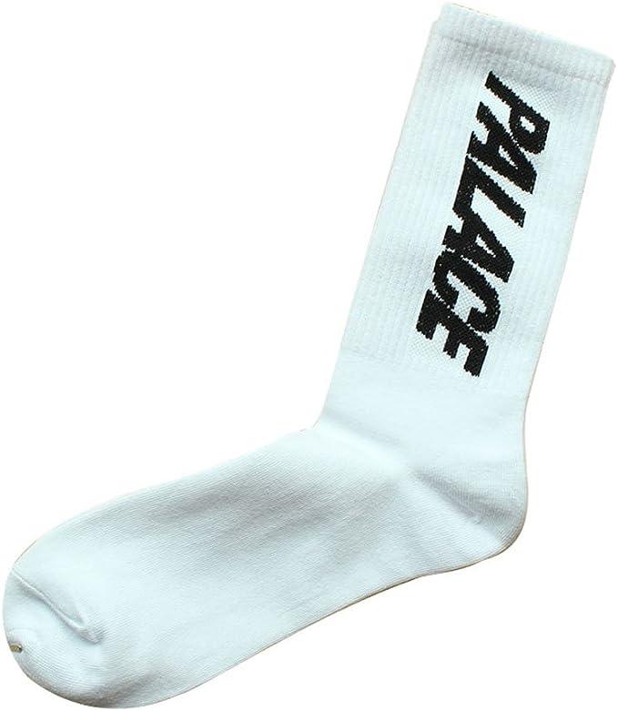 Palace Skateboards - Calcetines altos, color blanco, material de algodón suave, talla única: Amazon.es: Ropa y accesorios
