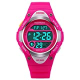 BesWLZ Sports Kids Wristwatch LED Digital Alarm Stopwatch Waterproof Children's Dress Watches for Child Boys Girls Pink