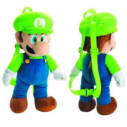 (Super Mario Bros. Luigi 16 inch Plush Backpack)